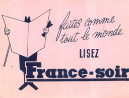 BUVARD PRESSE LISEZ FRANCE SOIR - Buvards, Protège-cahiers Illustrés