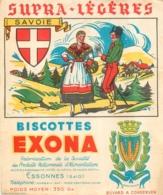 BUVARD BISCOTTES EXONA SUPRA LEGERES LA SAVOIE - Biscottes