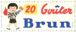 BUVARD GOUTERS BRUN - Cake & Candy