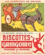 BUVARD BISCOTTES  GRINGOIRE LES AVENTURES DE GRINGO - Biscottes