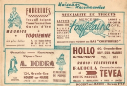 BUVARD COMMERCES DE NOGENT SUR MARNE  A. JODRA / TEVEA / TOUFELAINE / TOQUENNE - Blotters