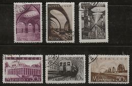 Russie 1938 N° Y&T : 670 à 675 Obl. - 1923-1991 URSS