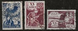 Russie 1938 N° Y&T : 685 à 687 Obl. - 1923-1991 URSS