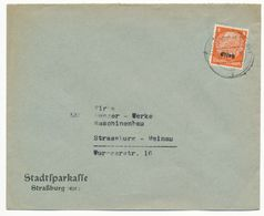 BAS RHIN ELSASS ENV 1941 STRASSBURG  8pf SEUL SUR LETTRE - 1921-1960: Période Moderne