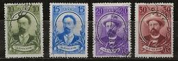 Russie 1939 N° Y&T : 755 à 758 Obl. - Used Stamps