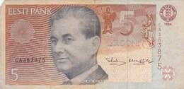Estonie - Billet De 5 Krooni - Paul Keres - 1994 - P76a - Estonia