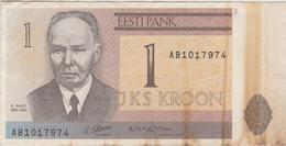 Estonie - Billet De 1 Kroon - Kristjan Raud - 1992 - P69a - Estonia