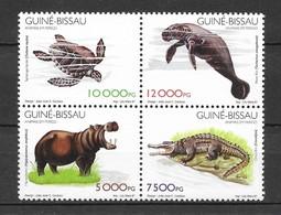Guinea-Bissau 1997 MiNr. 1248 - 1251 Animals Reptiles Turtles 4v MNH ** 75,00 € - Guinée-Bissau