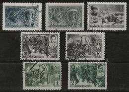 Russie 1942 N° Y&T : 853 à 859 Obl. - Usati