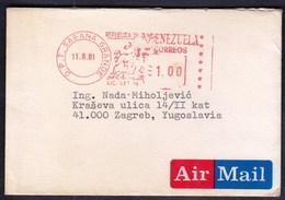 Venezuela Sabana Grande 1981 / Machine Stamp, Horse - Venezuela