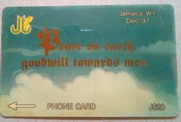 14JAME Peace On Earth J$20 Mint - Jamaica