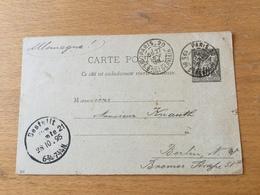 K9 France Entier Postal Stationery Ganzsache YT 89-CP4 De Paris Pour Berlin - Entiers Postaux