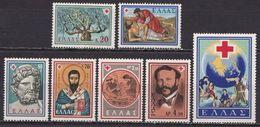GREECE 1959 Red Cross Set Complete MNH  Vl. 780 / 786 - Ungebraucht
