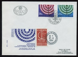 Europa KSZE 1984 Yougoslavie - Jugoslawien - Yugoslavia 1984 Y&T N°1951 à 1952 - Michel N°2071 à 2072 FDC - CE - Idées Européennes