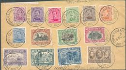 Série EMission 1915 (avec Le 5Franken) Obl. Sc BAARLE-HERTOG Sur Enveloppe Recommandée (coupée En Haut) Du 24-XI-1915 Ve - 1915-1920 Albert I