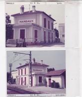 33 / MARGAUX /  2 PHOTO VERITABLE  GARE 1984 - Margaux