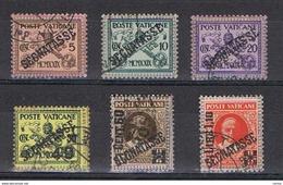 VATICANO:  1931  TASSE  -  S. CPL. 6  VAL. US. -  SASS. 1/6 - Postage Due