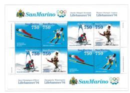 San Marino 1994 Olympic Games Lillehammer Souvenir Sheet  MNH/** (H30) - Winter 1994: Lillehammer