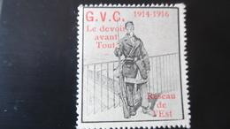 Vignette Militaire Delandre GVC G.V.C - Réseau De L'est - Vignettes Militaires
