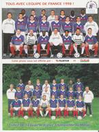 FOOTBALL - COUPE DU MONDE 1998. 2 CP L'Equipe De France - Soccer