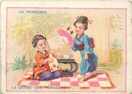 GRANDS MAGASINS DU PRINTEMPS - Enfants Japonais ; Lot De 4chromos (format 9,6cm X 7cm) - Autres