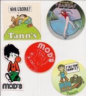 Autocollant -  Lot De 5 Différents  -    Enfants  TANN'S   MOD'8   TRANSAT - Stickers