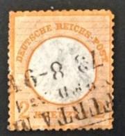 1872 Adler Mit Kleinem Brustschild Mi. 8 - Oblitérés
