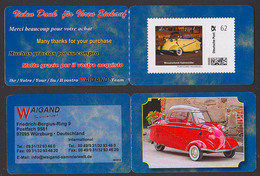 Portocard Indiviuell Markenheftchen Mit 62 Cent **, Kult-Autos Messerschmitt Kabinenroller, Waigand-Sammlerwelt 08/2014 - Other (Earth)