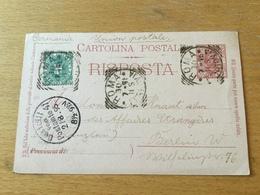 K9 Italien Stationery Entier Postal Ganzsache P 26A Von Rom Nach Berlin - Postwaardestukken