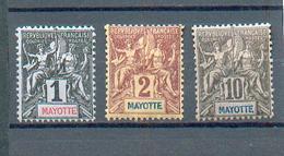 MAYO 32 - YT 1-2-5 * - Charnière Complète - Mayotte (1892-2011)