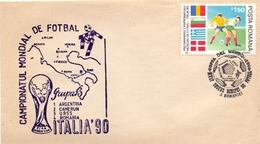 ROMANIA ITALIA 90 FDC    COVER   (APRI200131) - 1990 – Italy