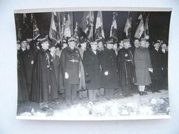 Photo De Presse 1934 Agence ROL Flamme Tombe Du Soldat Inconnu Général Maurin Gouraud Denain Rivollet Amiral Durand Viel - Orte