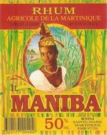 ETIQUETTES RHUM AGRICOLE  MARTINIQUE MANIBA - Rhum
