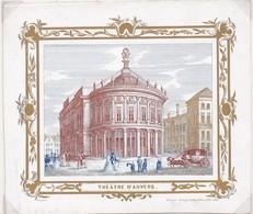 Porseleinkaart    Carte Porcelaine Antwerpen Anvers Theatre D`Anvers 1845 - 143 X 104 Mm - Antwerpen
