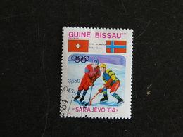 GUINEE GUINE BISSAU YT 254 OBLITERE - JEUX OLYMPIQUES HIVER SARAJEVO 84 HOCKEY SUR GLACE - Guinée-Bissau