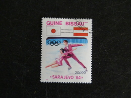 GUINEE GUINE BISSAU YT 257 OBLITERE - JEUX OLYMPIQUES HIVER SARAJEVO 84 PATINAGE ARTISTIQUE COUPLE - Guinée-Bissau