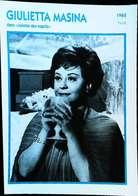 Giulietta MASINA  (1962)  - Portrait Star Cinéma . Photo-Fiche Filmographie . Collection Edito Service - Foto