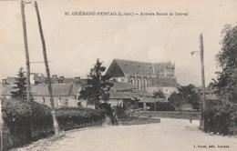 Rare Cpa Guémené-Penfao Arrivée Route De Derval - Guémené-Penfao