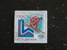 GUINEE GUINE BISSAU YT 123 OBLITERE - JEUX OLYMPIQUES HIVER LAKE PLACID 1980 SKI ALPIN - Guinée-Bissau