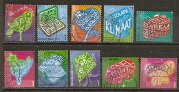 Pays-Bas Netherlands 2011 Green Stamps Timbres Verdes Set Complete Obl BARGAIN BONNE AFFAIRE A REGARDER - Periode 1980-... (Beatrix)