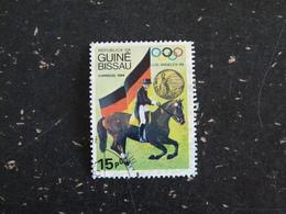 GUINEE GUINE BISSAU YT 323 OBLITERE - CHAMPIONS PLYMPIQUES LOS ANGELES 84 EQUITATION CHEVAL HORSE - Guinée-Bissau