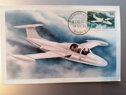 Carte Postale Premier Jour France MS760 Poste Aerienne N°35 - Luchtpost