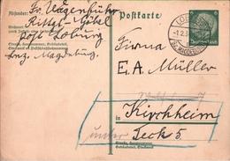 ! 1934 Ganzsache Aus Loburg - Germany