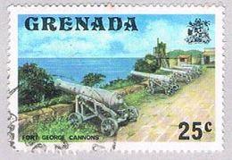 Grenada 594 Used Fort George Cannons 1975 (BP3627) - Grenada (1974-...)