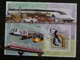 GUINEE GUINE BISSAU YT BF 317 OBLITERE - TRANSPORT CITADIN TRAIN SUSPENDU TRAMWAY LOCOMOTIVE - Guinée-Bissau