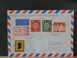 51/674  LETTRE 1956 1° VOL BRAZIL - [5] Berlin