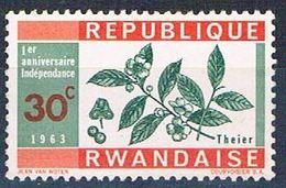 Rwanda 29 MNH Tea (R0393)+ - Rwanda