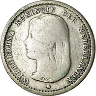 Monnaie, Pays-Bas, Wilhelmina I, 10 Cents, 1892, TB, Argent, KM:116 - [ 3] 1815-… : Royaume Des Pays-Bas