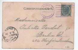 """1904 - CARTE Avec CACHET VIOLET """"BERLIN C. 2 VI NACHTRAGLICH ENTWERTHET"""" Sur TIMBRE D'AUTRICHE / OSTERREICH - Covers & Documents"""