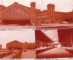 50 / CHERBOURG MARITIME /  4 PHOTO VERITABLE  GARE 1981 - Cherbourg
